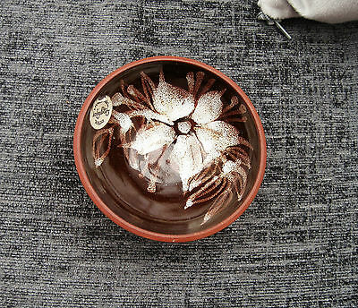 Welsh  Tenby Pottery Handmade Bowl With Floral Decoration