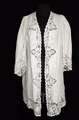 Rare Museum Quality French Georgian Early 19Th Century French Linen Lace Coat