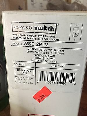 Sensorswitch WSD 2P IV Motion Detector Switch 120/277vac