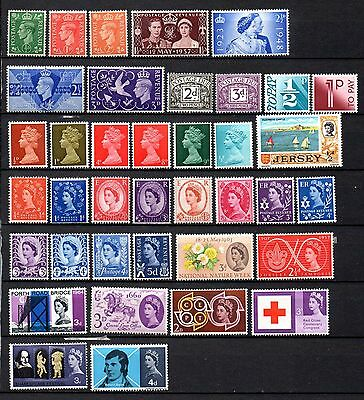 collection of 38 mint GVI&QEII GB stamps
