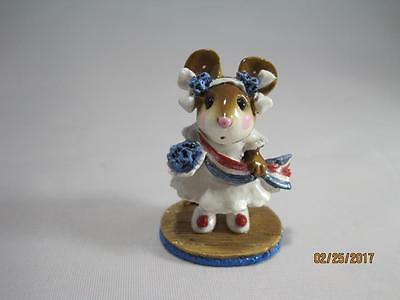 Wee Forest Folk Miss Liberty White Dress - Retired in WFF Box