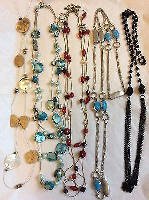 Job Lot Costume Jewellery Mix 5 Assorted Long Necklaces.  501c