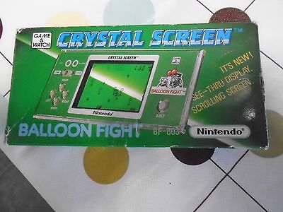 nintendo game & watch BALLOON FIGHT crystal screen boxed ULTRA RARE vintage