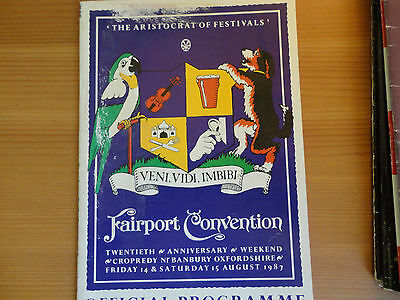 Fairport Convention programme