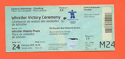 Orig.Ticket   Olympic Winter Games VANCOUVER 2010  -  VICTORY CEREMONY 24.02. !!
