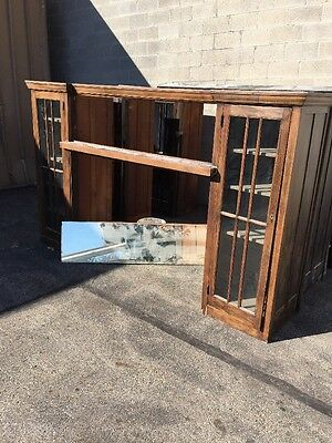 Cm 76 Antique Built In Birch BookcasesWith Mirror