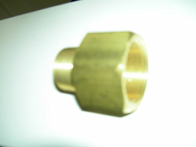 """1-1/4"""" X 1"""" Brass Pipe Reducing Fitting, Brass Pipe Adapter"""