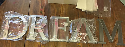 "NEW Pottery Barn Kids Mirrored Wall Letters DREAM Nursery Decor 10"" D-Ring Mount"