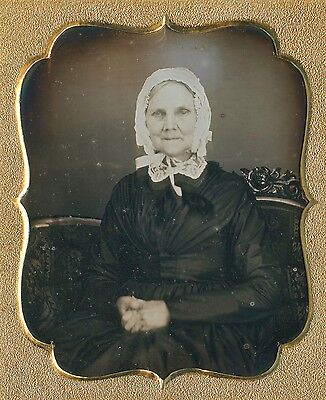 daguerreotype 6th plate old lady on couch