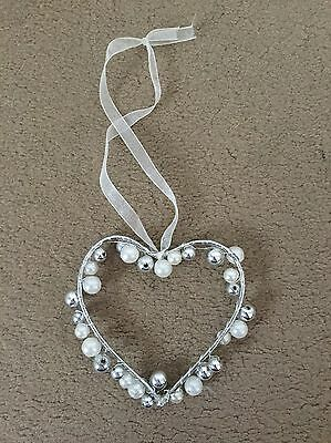 Pearl Effect Bead Heart Decoration