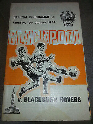 Blackpool v Blackburn Rovers Division Two 1969-1970