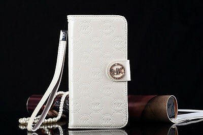New Michael Kors Cover for IPhone 7 Leather Flip Case - White