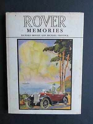 Rover Memories Hardback Book Richard Hough /michael Frostick First Edition 1966