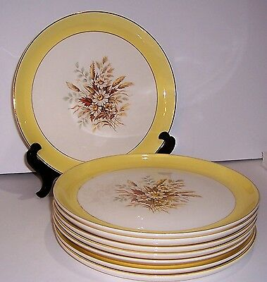 """Set Of 6 Cunningham And Pickett Sunglow Dinner Plates 10"""""""