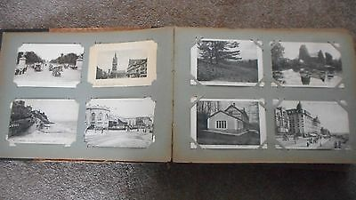 FRANCE: OLD POSTCARD ALBUM CONTAINING 430 FRENCH POSTCARDS - EARLY 1900's
