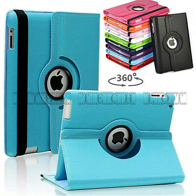 Apple iPad 4 3 2 Air Air 2 Mini 1 2 3 4 Rotate Stand Smart Case Cover Leather