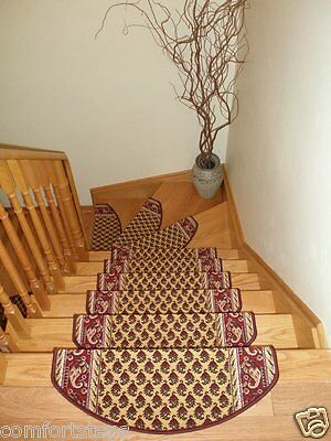 Set of 15 Beautiful Carpet Stair Mat |Stair Rugs Treads made in Europe