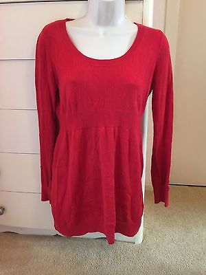 Old Navy Maternity Sweater Tunics Lot Of 2 Red And Tan Sweaters Small