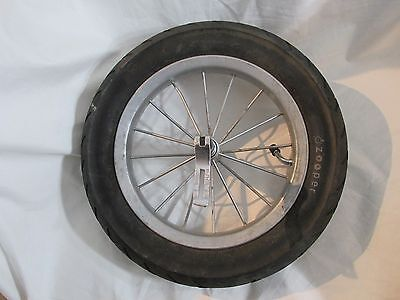 """Zooper Stroller Replacement Front Wheel and Tire 12.5"""" with Quick Release Pin"""