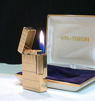 BRIQUET Ancien @ KBL Throne avec écrin @ Gas Lighter * Feuerzeug * Accendino