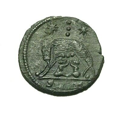 Ancient Roman Empire, Commemorative,  AD 335-337. VRBS ROMA, She-Wolf and twins