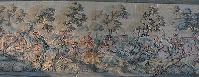 Vintage Possible French Tapestry ~ 19'' x 55''~