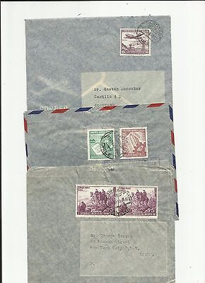 Chile 1950s air covers different rates