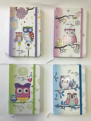 Lovely Owl Note Book A6 | 4 Colours available | Australian local Stock