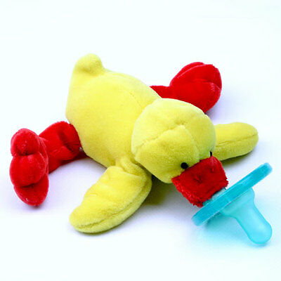 NEW~WubbaNub Silicone Soothie Pacifier~Plush~Baby~0-6 Months~Yellow Duck