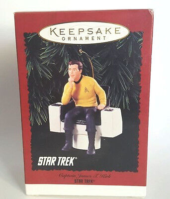 Star Trek Captain Kirk 1995 Hallmark Ornament in box