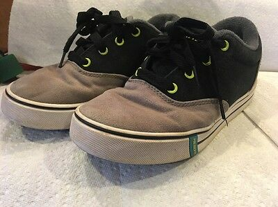 Heelys Boys Girls Kids Youth Sneakers Size 4 Gray Black