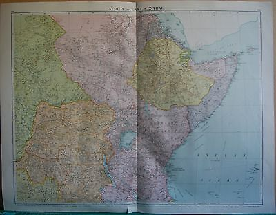1919 Large Map- Africa, East Central