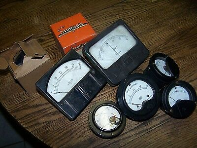 LOT OF 8 Simpson WESTON, ROLLER-SMITH  Ammeter, VOLTS, D.C