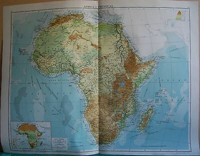 1919 Large Map- Africa, Physical