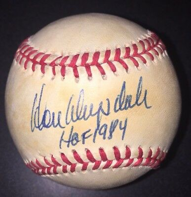 Don Drysdale AUTOGRAPHED SIGNED BASEBALL ONL PSA/DNA Dodgers HOF Inscribed