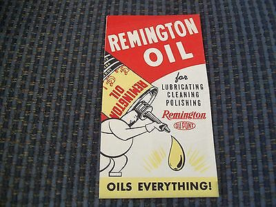 Remington Oil Pamphlet Gun Grease/Powder Solvent/Rust Remover Form No. 3-12-47