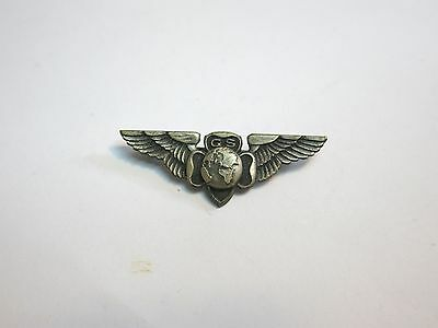 Vintage Girl Scout Gs Silver Wing Scout Pin