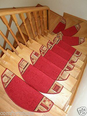 Set of 15 Beautiful Carpet Stair Mats Stair Rugs - made in Europe - ON SALE NOW