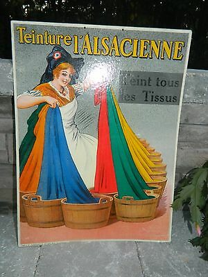 Vintage French Store Card Advertising Cloth Dye