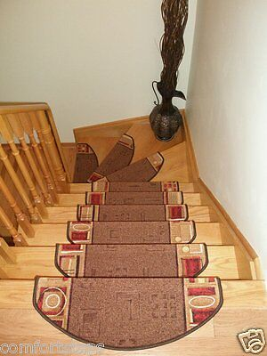 Set of 15 Beautiful Carpet Stair Mats/ Stair Rugs - made in Europe