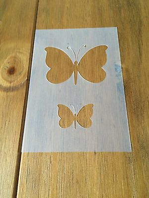 Butterfly Two Mylar Reusable Stencil Airbrush Painting Art Craft DIY Home Decor