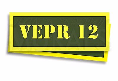 """VEPR 12 Ammo Can Labels for Ammunition Case 3"""" x 1"""" stickers decals 2 PACK -AG"""