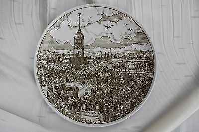 Vintage 1950s Decorate Plate Dish Hutschenreuther Germany