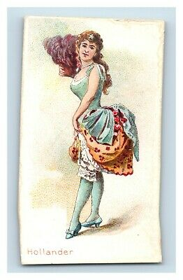 Lovely Dancing Women Kimball & Co's, Hollander Tobacco Cigarette Trade Card F53