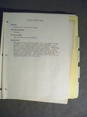 Vintage Nasa Astronaut Deke Slayton Personal Documents From Russain Visit