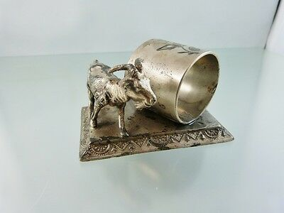 Billy Goat Figural Silverplate  Napkin Ring # 181 By Knickerbocker Mfg. Co