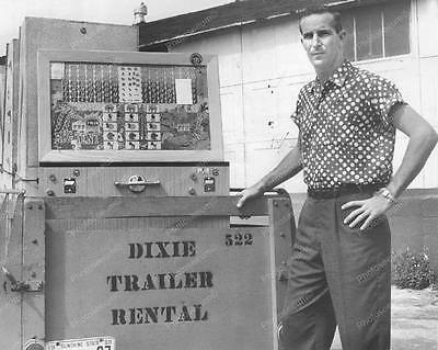 "Slot Machine Console Police Confiscated Vintage 8"" - 10"" B&W Photo Reprint"
