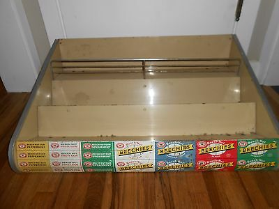 Vintage Old Metal BEECH NUT Gum Advertising Display Rack Counter Holder SIGN