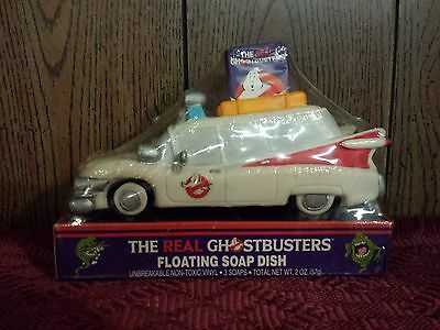 The Real Ghostbusters Ecto-1 floating Soap dish New Sealed in original wrap RARE