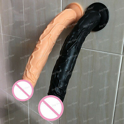 35,5cm Silicone_Dildos_Realistic Soft Odorless with Strong Suction Cup